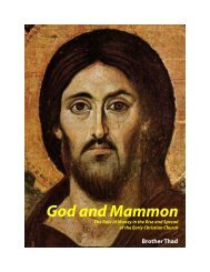 God and Mammon - WORKship