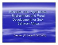 Resource use, Agriculture, Environment and Rural ... - ZEF