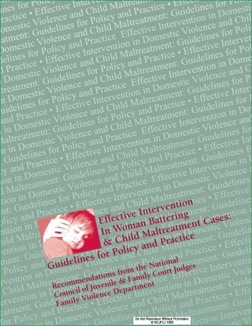 Guidelines for Policy and Practice - The Greenbook Initiative
