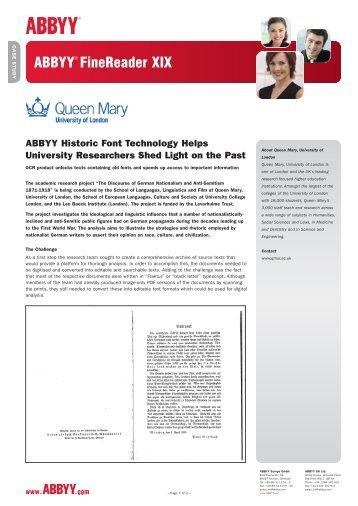 Queen Mary, University of London - Abbyy