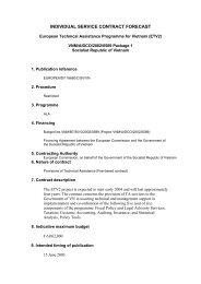 INDIVIDUAL SERVICE CONTRACT FORECAST - Crui