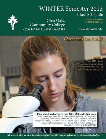 WINTER Semester 2013 - Glen Oaks Community College