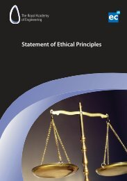 Ethical Principles - Royal Academy of Engineering