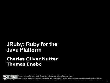 JRuby: Ruby for the Java Platform