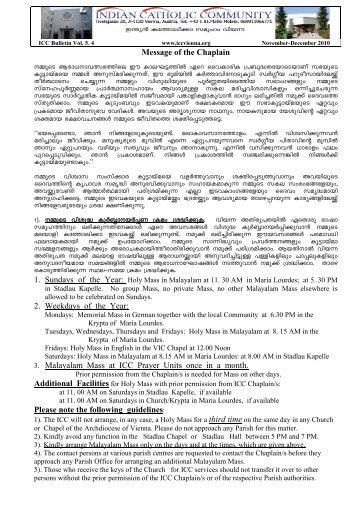 ICC Parish Bulletin Vol.5.4 November - December 2010 released on ...