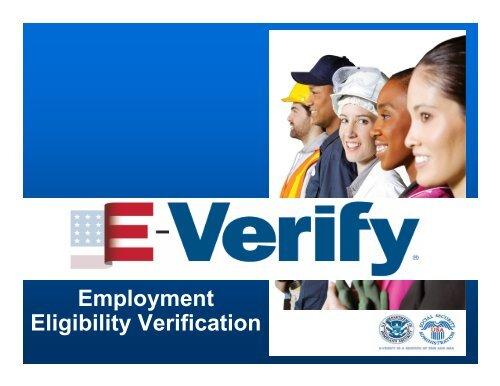 E–Verify Employment Eligibility Verification