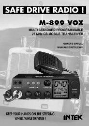 USER MANUAL M-899 VOX - Intek