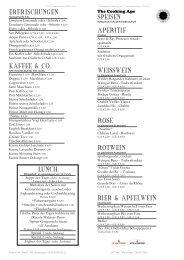 erfrischungen kaffee & co. lunch speisen aperitif ... - The Cooking Ape
