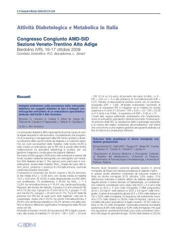 Congresso Congiunto AMD-SID Sezione Veneto-Trentino Alto Adige