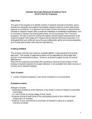 1 Carleton University Research Excellence Fund 2012/13 Call for ...