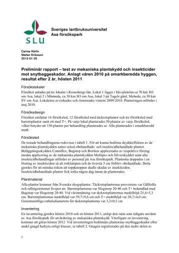 Rapport - SLU