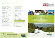 1. alpannonia® - Wanderwoche in Bad Tatzmannsdorf