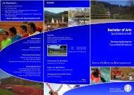 Bachelor of Arts - Institut für Sport und Sportwissenschaft - Albert ...