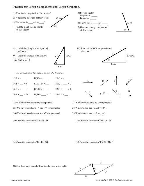 Vector Basics Worksheet