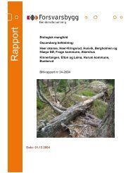 Rapport biologisk mangfold Oscarsborg festning - Forsvarsbygg