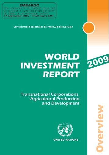 WIR 2009 Overview - UNDP