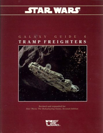 WEG40095 – Galaxy Guide 6 – Tramp Freighters - Speed-Freak