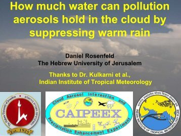 How much water can pollution aerosols hold in the cloud by ...