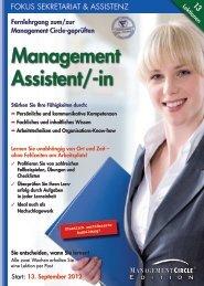 Fernlehrgang: Der/die Management Assistent/-in - Management ...