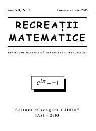 Revista (format .pdf, 1.0 MB) - Recreaţii Matematice
