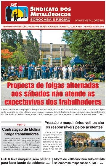 Metso - Sindicato dos Metalúrgicos de Sorocaba e Região