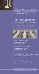 New York University 70th Institute on Federal Taxation