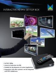 INTERACTIVE HD IPTV SET-TOP BOX - Alcad
