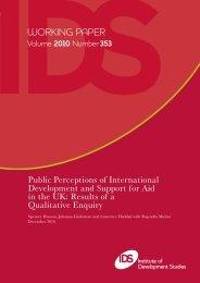 Views - Institute of Development Studies