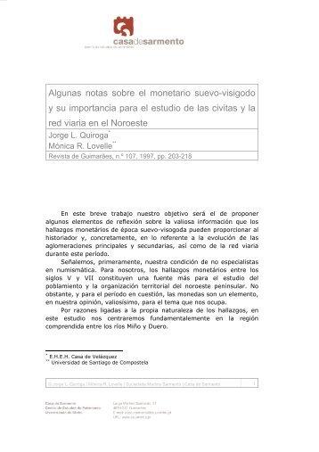 Algunas notas sobre el monetario suevo-visigodo y su importancia ...