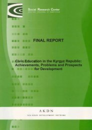 Civic Education in the Kyrgyz Republic - Aga Khan Development ...