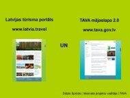 Latvijas tūrisma portāls un TAVA mājaslapa V2.0