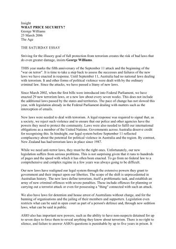 the saturday essay