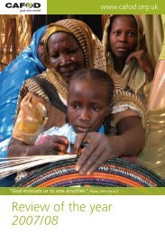 CAFOD Annual Review 2007-2008 (2 MB)