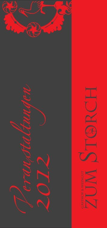 Veranstaltungskalender 2012 - Gasthof zum Storch