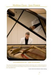 Mathias Claus - Jazz Pianist