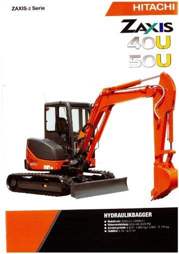 Raupenbagger Hitachi ZX40 U - BauRent AG Ost