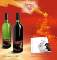 Katalogauszug 12/2011 - Barrique Landshut - Barrique GmbH