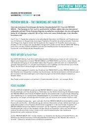 PREVIEW BERLIN – THE EMERGING ART FAIR 2011