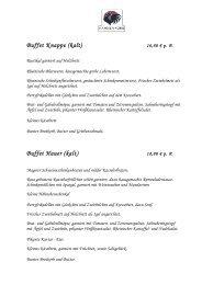 Buffet Knappe (kalt) Buffet Hauer (kalt) - Restaurant Hahnenkorb