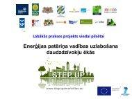 Enerģijas patēriņa vadības uzlabošana daudzdzīvokļu ēkās - Rīgas ...