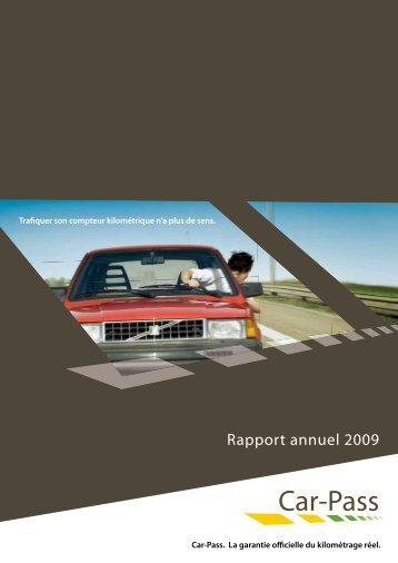 Rapport annuel 2009 - Car-Pass