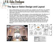The Spa or Salon Design and Layout - Iowa Beauty Supply