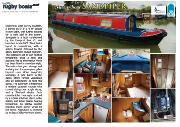 Narrowboat SANdPiPER - Rugby Boat Sales