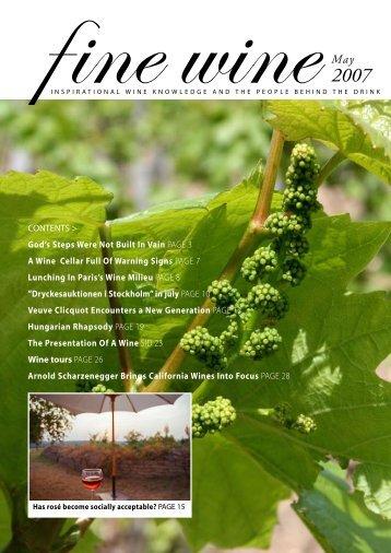 Wine tours PAGE 26 - Fine wine magazine