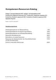 KoRe-Katalog - Swissmem Berufsbildung