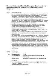 Niederschrift über die öffentliche Sitzung des Gemeinderates der ...
