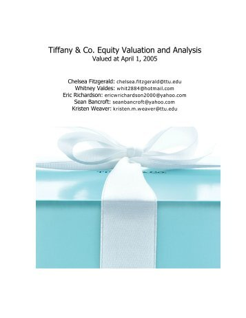 Tiffany & Co. Equity Valuation and Analysis - Mark Moore