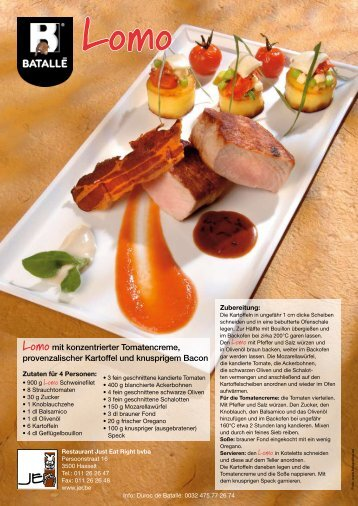 Lomo mit konzentrierter Tomatencreme ... - Neurauter Frisch GmbH
