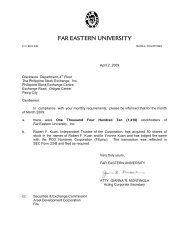 MONTHLY March 09.pdf - Far Eastern University
