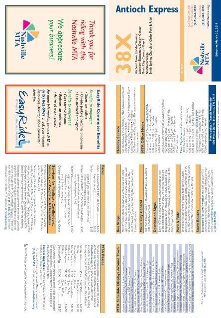PDF Map & Schedule - Nashville MTA